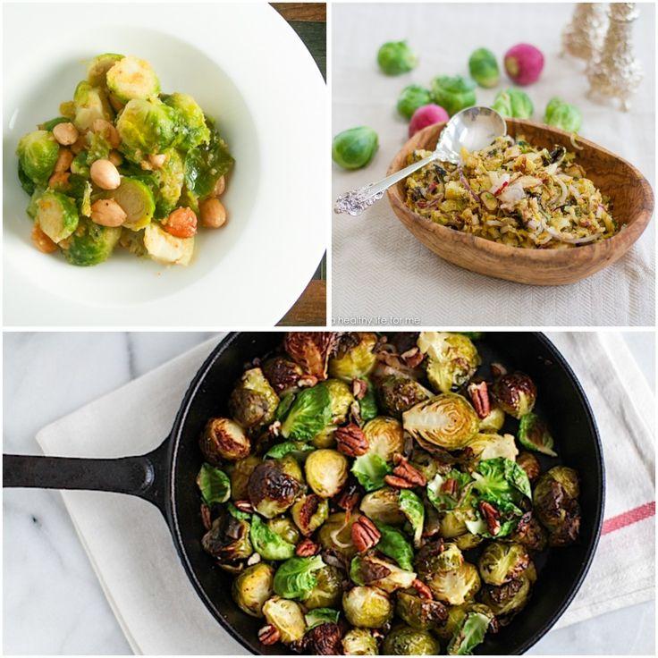 Healthier Thanksgiving Recipe Round Up #thanksgiving #recipe #roundup #healthier #brusselssprouts