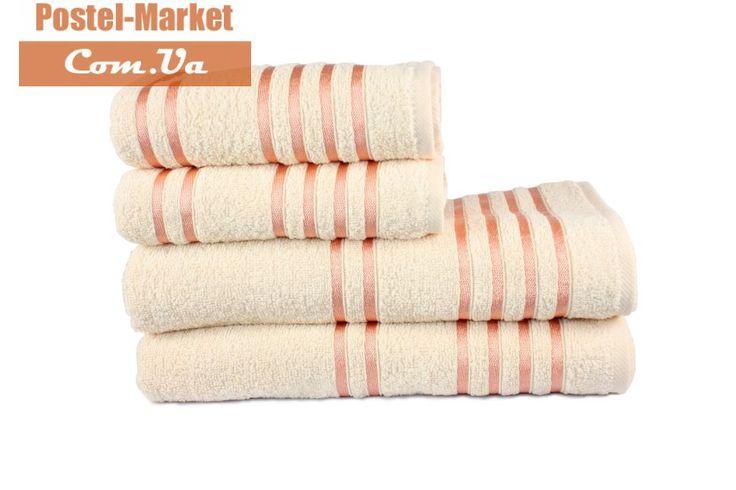 Купить Махровое полотенце LINE персиковое Izzihome в интернет магазине Постель Маркет ( Киев, Украина )