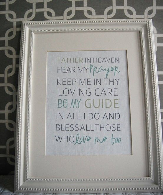 Instant Download: Digital 8x10 print bedtime prayer father in heaven hear my…                                                                                                                                                                                 More