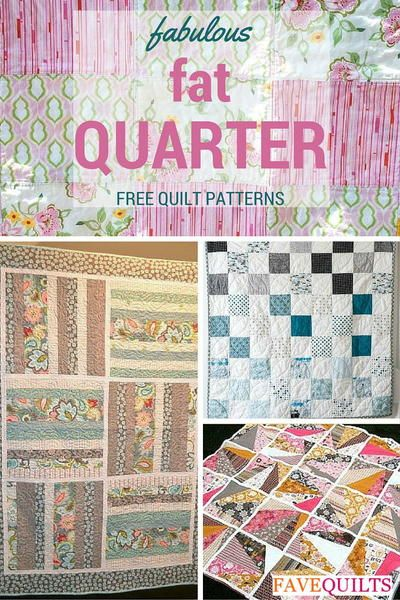 Fat Quarter Quilts - Whether you enjoy making large wall quilts or prefer smaller handmade projects, you will adore these 14 Fabulous Fat Quarter Quilt Patterns for their ability to make a variety of interesting quilts patterns. Take your pick amongst these gorgeous kids' quilts, adorable quilted baby blankets, and charming miscellaneous designs that all feature diverse fat quarter quilt patterns.