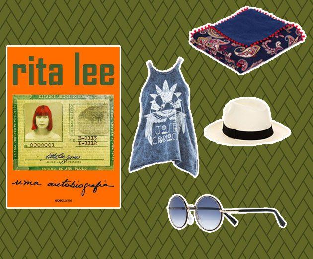 Mais autobiografia - dessa vez da rainha do rock brasileiro, Rita Lee! Por R$ 44,90 na Livraria Cultura! A regata azul levinha (R$ 98) dá pra achar na Farm - vai bem com a canga estampada (R$ 195) da Shop2gether, chapéu de palha (R$ 213) do Gallerist e óculos Cutler&Gross (R$ 2.350) da Farfetch!