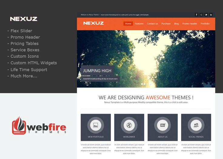 Nexuz - A sleek and simple Custom Weebly Template. Perfect for your  personal or business. Business WebsiteWeb ...