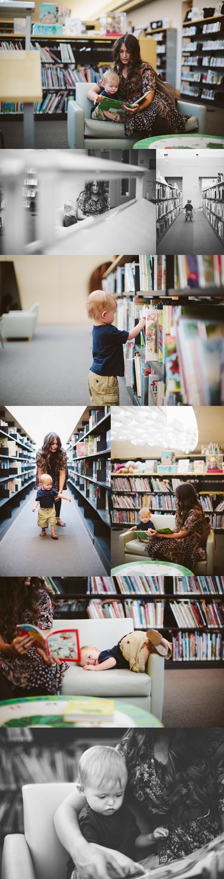 That's such a great idea! Want to try this! A simple trip to the library produces lifestyle moments that tell a story.