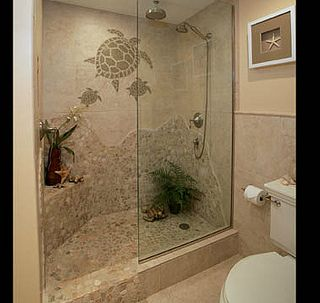 turtle mosaic shower- I would like to incorporate this design outdoors :)