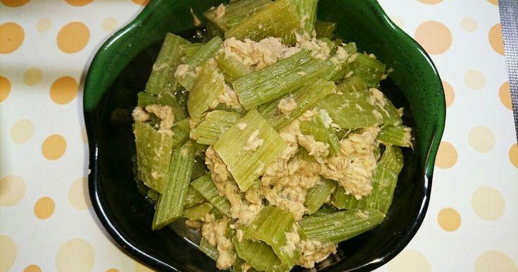 シーチキンを使ってふきの煮物です。