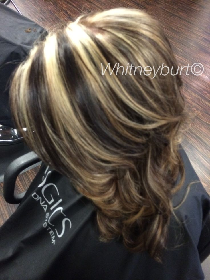 Chocolate Lowlights And Bold Blonde Highlights By Me
