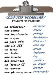 French vocabulary - Computer