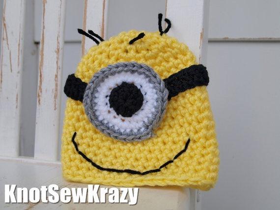Kid's Crochet Hat Handmade  Minion by roxygal48 on Etsy, $16.99