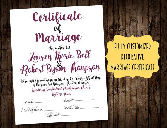 10 best Wedding Certificates, Ceremonial Marriage and Comittment - wedding certificate template