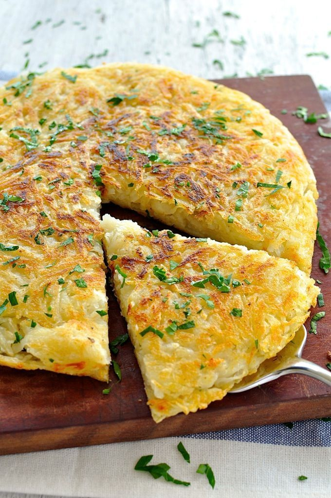 Great for feeding a crowd! And the tip to getting a crunchy crust every time. #potato #rosti #breakfast #brunch #vegan