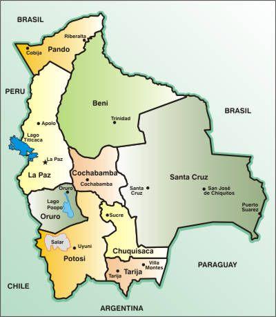 bolivia | Mapa de Bolivia - Bolivia informa