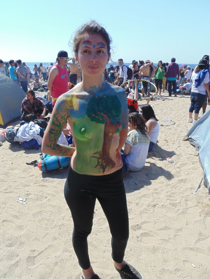 pintura corporal Valparaiso mil tambores 2014