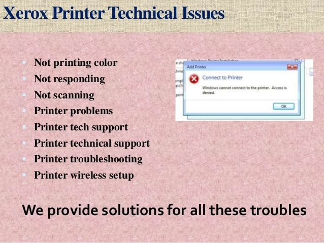 Xerox Printer Is Not Responding At All Printer It Works