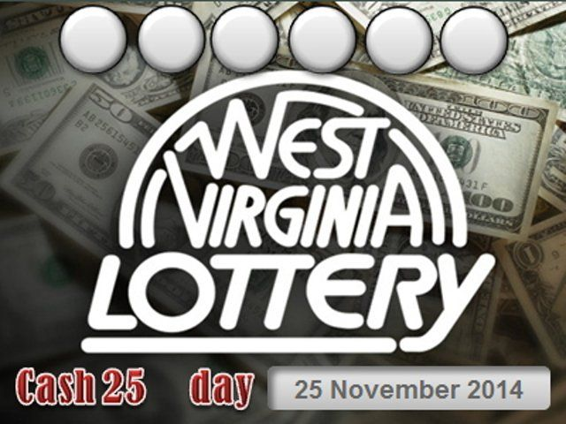 West Virginia Cash 25   - Day 25 November 2014, Wv Lottery,  West Virginia Lottery - Credits: http://powerball.center