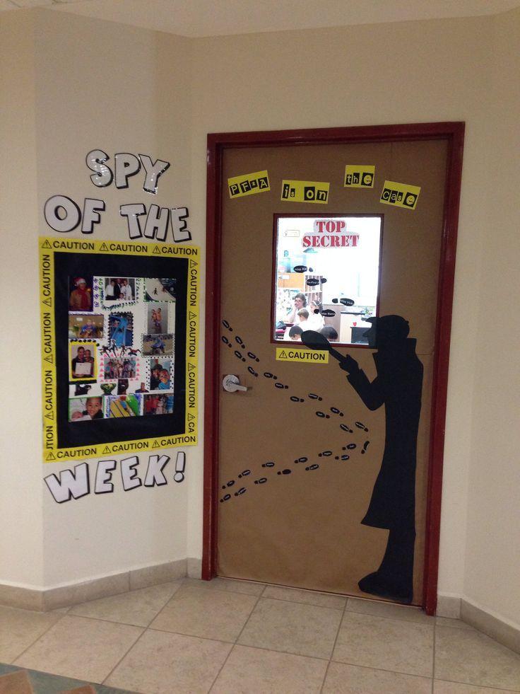 spy decoration ideas | Great Spy door decoration #classtheme
