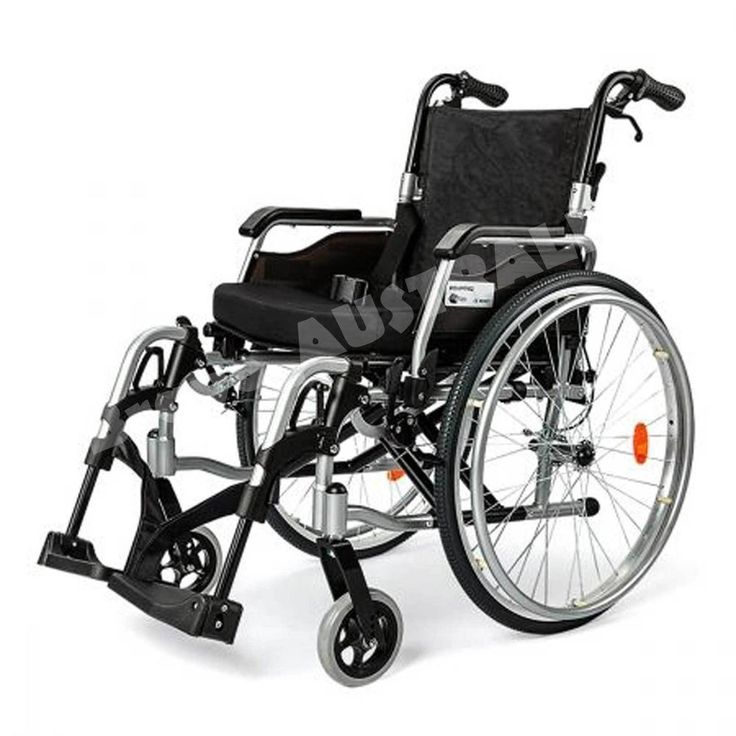 "eQuipMed Folding Wheelchair Deluxe Series 24"" Tyres Lightweight Powder coated"