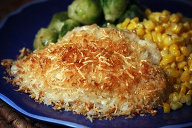 Parmesan crusted tilapia recipe kitchens bread crumbs for Parmesan crusted fish