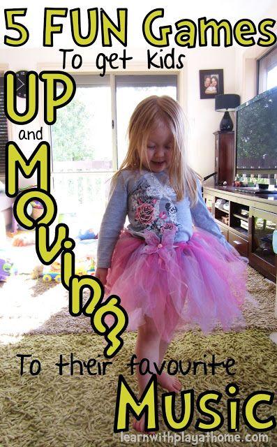 5 Fun Games to get kids Up and Moving to Music! Perfect for breaking up lessons, getting rid of the wiggles and refocussing the class.