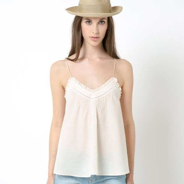 V-Neck Top with Shoestring Straps/size 14 and 16 available