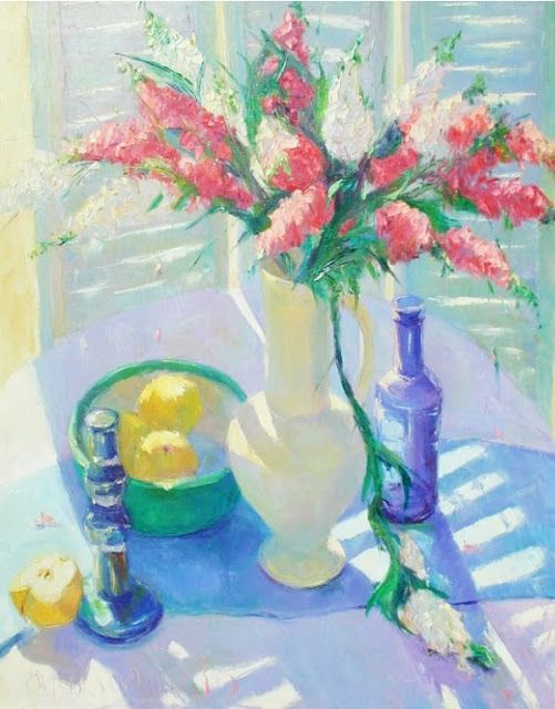 American Artist Carolyn Biggio. Beautiful Still Life Painting
