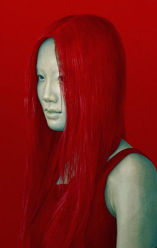Salustiano Garcia Cruz - Contemporary Artist - Spain - Portrait - Red