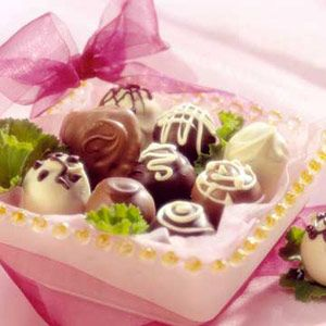 Candy treats A box of homemade candies makes an elegant gift from