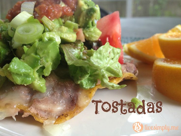 Simple Homemade Mexican Tostadas the whole family will eat and love. A delicious and easy dinner. Mexican tostadas