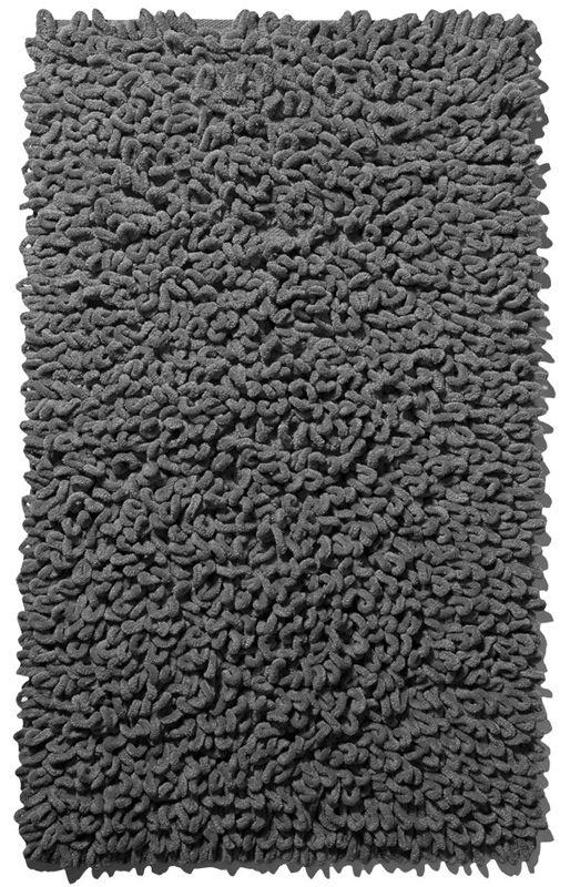 Kuscheliger handgewebter Badteppich in silber aus 100% Baumwolle mit wohnlichen Touch. Barfuß sehr angenehm. Die Latexierung auf der Rückseite sorgt für festen Halt. Waschbar im Wollprogramm.