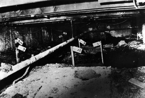 The crawlspace beneath serial killer John Wayne Gacy's home where he buried 26 of his victims.