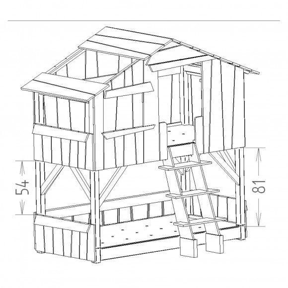 bouwtekening boomhutbed