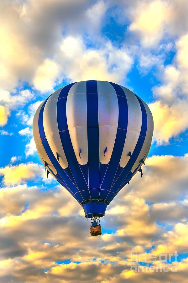 Beautiful Blue Hot Air Balloon.