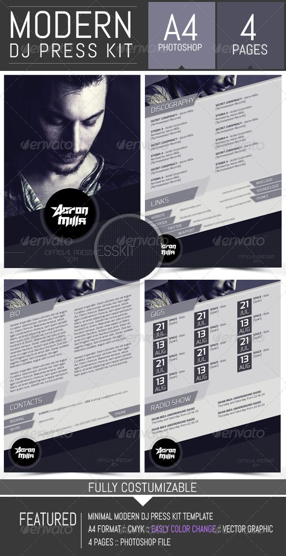 les 21 meilleures images du tableau dj press kit and dj