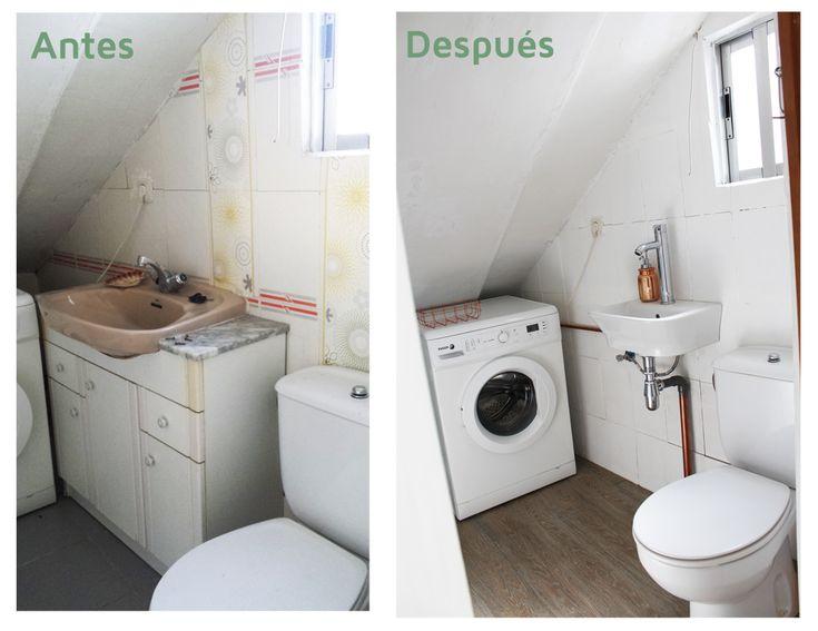 Antes y después de un baño pequeño sin obras... ¡DIY!