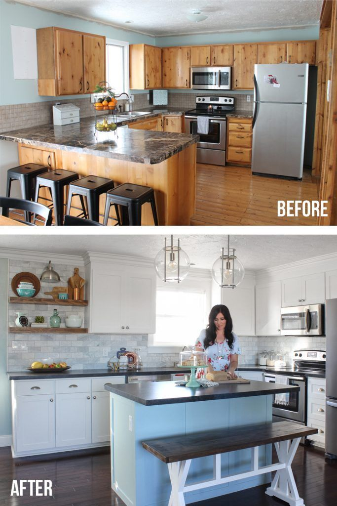 Kitchen Remodel Before And After Photos They Remodeled Their Kitchen On A Budget And Kitchen Remodel Small Budget Kitchen Remodel Kitchen Remodeling Projects