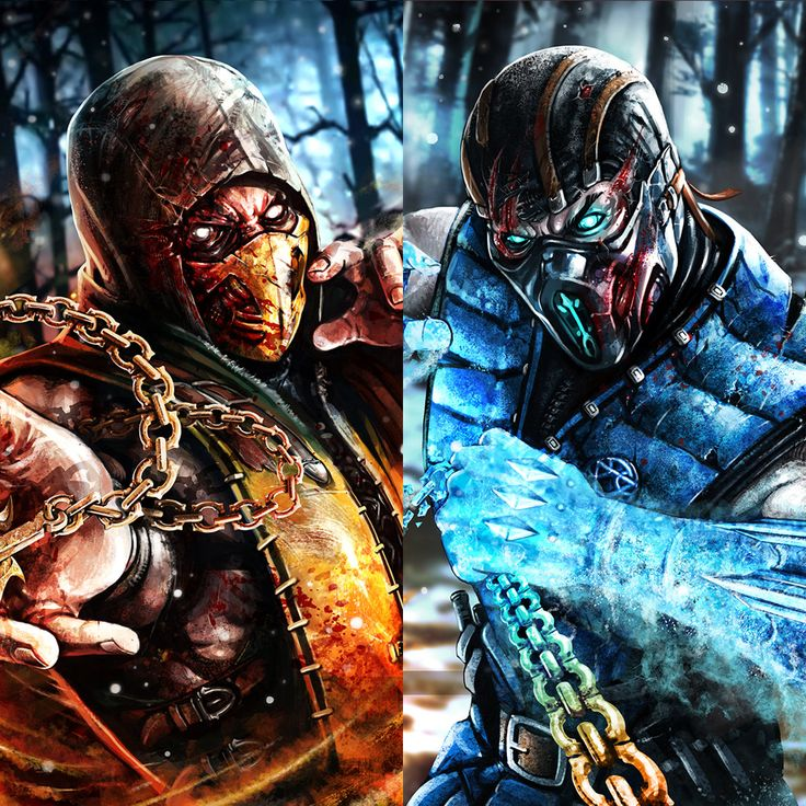 ScorpioN & Sub-Zero - MortaL Kombat X, Sadece Kaan on ArtStation at https://www.artstation.com/artwork/mortal-kombat-x