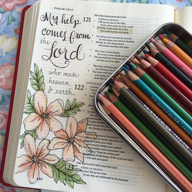 WEBSTA @ barrywendy - Psalm 121:2#biblejournaling  #illustratedfaith