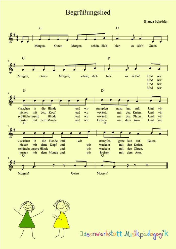 Guten-Morgen-Bewegungslied für den Kindergarten
