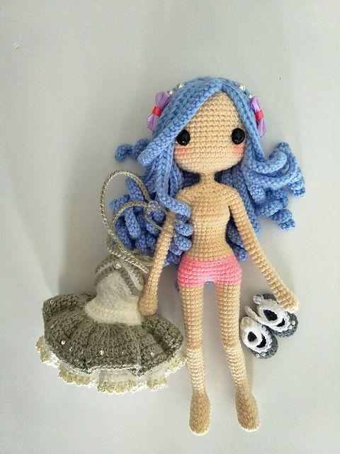 Kallie Amigurumi Doll Pattern By Jeslyn Sim BARBIE Pinterest Classy Amigurumi Doll Pattern
