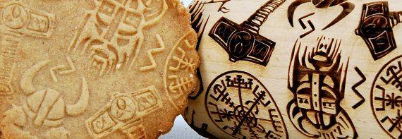 Vikings Viking THOR Scandinavian PATTERN MIDI by ArtWoodenCorner