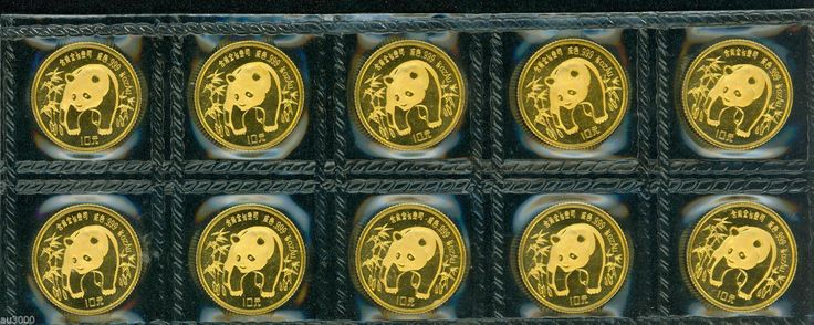 "#New post #1986 SEALED 10Y 1/10 OZ. GOLD CHINESE PANDA 10 COINS SHEET CHINA !  http://i.ebayimg.com/images/g/UN4AAOxyLVZRYths/s-l1600.jpg      Item specifics   Seller Notes: ""SEALED in original plastic sleeve.""      									 			Year:   												1986  									 			Certification:   												Uncertified    									 			Coin:   												Chinese Panda  									 			Grade:   												Ungraded    									... https://www.shopnet.one/1986-sealed-10y-110-oz-go"