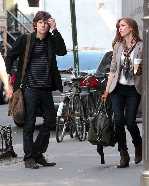 "Isla Fisher and Jesse Eisenberg - Isla Fisher & Jesse Eisenberg Film ""Now You See Me"""