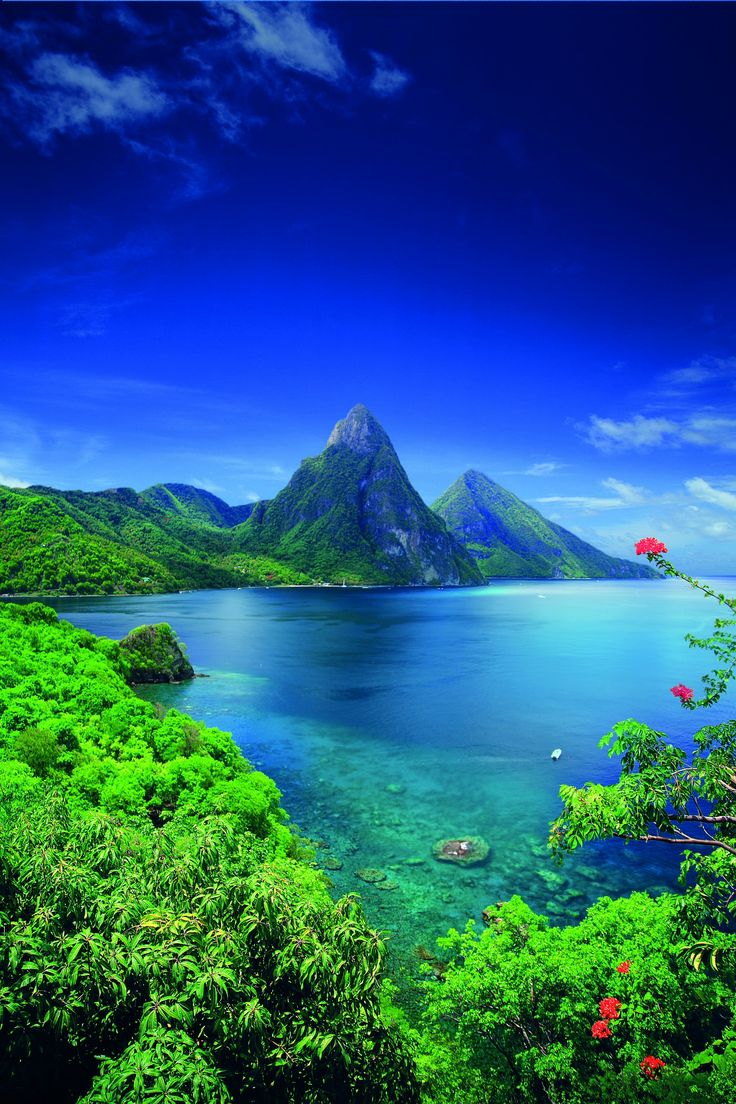 The Piton volcanoes, Saint Lucia, Caribbean... been to St Lucia!