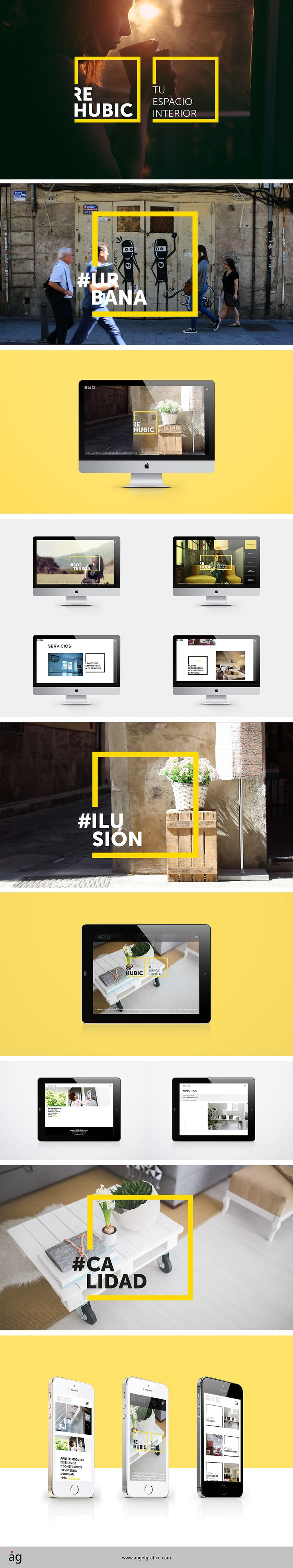 """REHUBIC """"Tu espacio interior"""" by angelgrafico.com #naming #branding #identidadcorporativa #diseño #desing #diseñografico #graphicdesign #webdesing #diseñoweb #cominicaciongrafica #aplicaciongrafica  #campañapublicidad #advertising #publicidad #angelgrafico #angelgraficodisseny #parallax #html5 #responsive #responsivedesign #responsiveweb #web #tablet #phone #movil #rehubic #interiorismo #espacio #reforma  #reformavivienda #construccion #urban #brand #marketing #emocion #tendencia"""