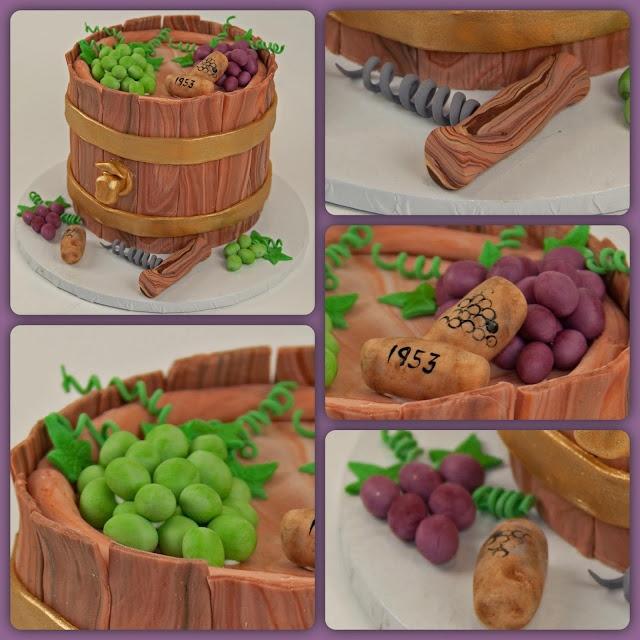 Wine Barrel Birthday Cake