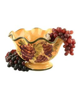Sonoma Collection Fruit Bowl (Sonoma Collection Hand Painted Fruit Bowl),  Gold. Fruit Kitchen DecorTuscan ...