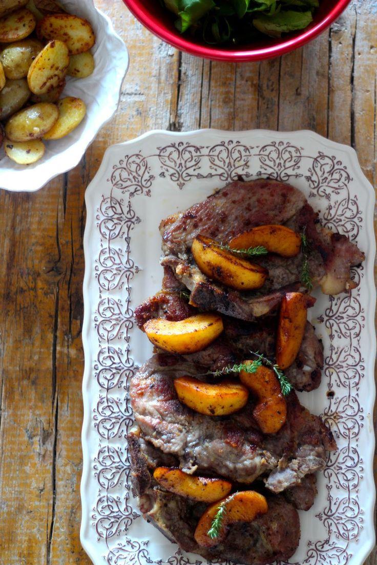 As Minhas Receitas: Costeletas de Porco com Maçã Caramelizada