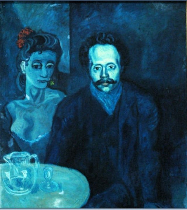 Pablo Picasso who is known for his geometric and cubism art began painting at an early age. In 1901 he began painting a Blue Series.