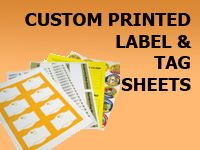 Custom Printed Label and Tag Sheets