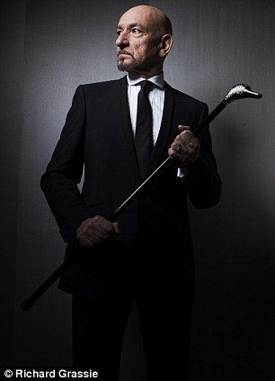 Sir Ben Kingsley, male actor, celeb, portrait, stylish, elegant, cane, photo