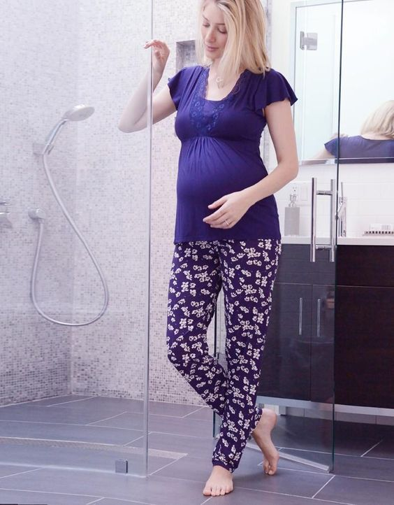Sweet Violet Maternity & Nursing Pajamas | Seraphine | Maternity nightwear, breastfeeding pajamas:
